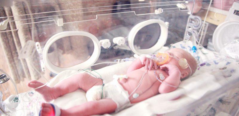 Bébé prématuré couveuse