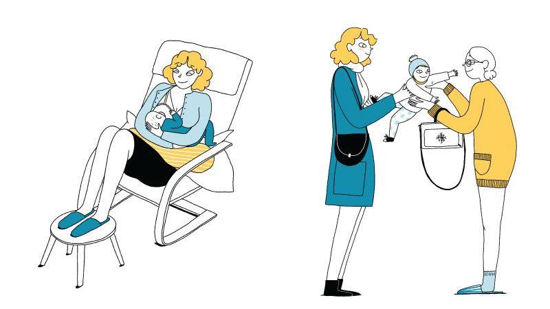 Confiez votre lait tiré à la personne qui garde votre bébé