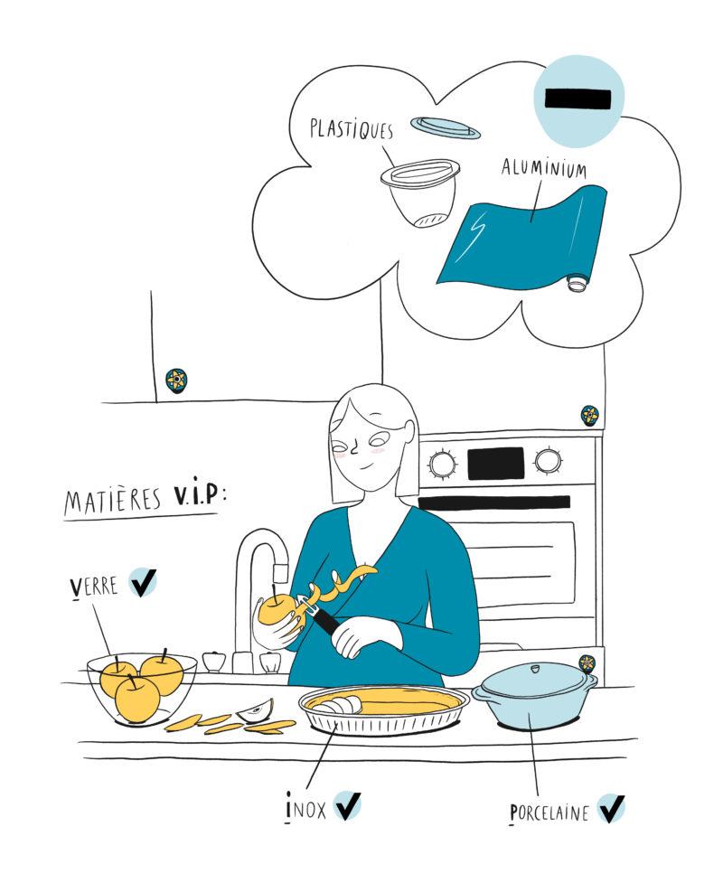 Utiliser des ustensiles de cuisine VIP