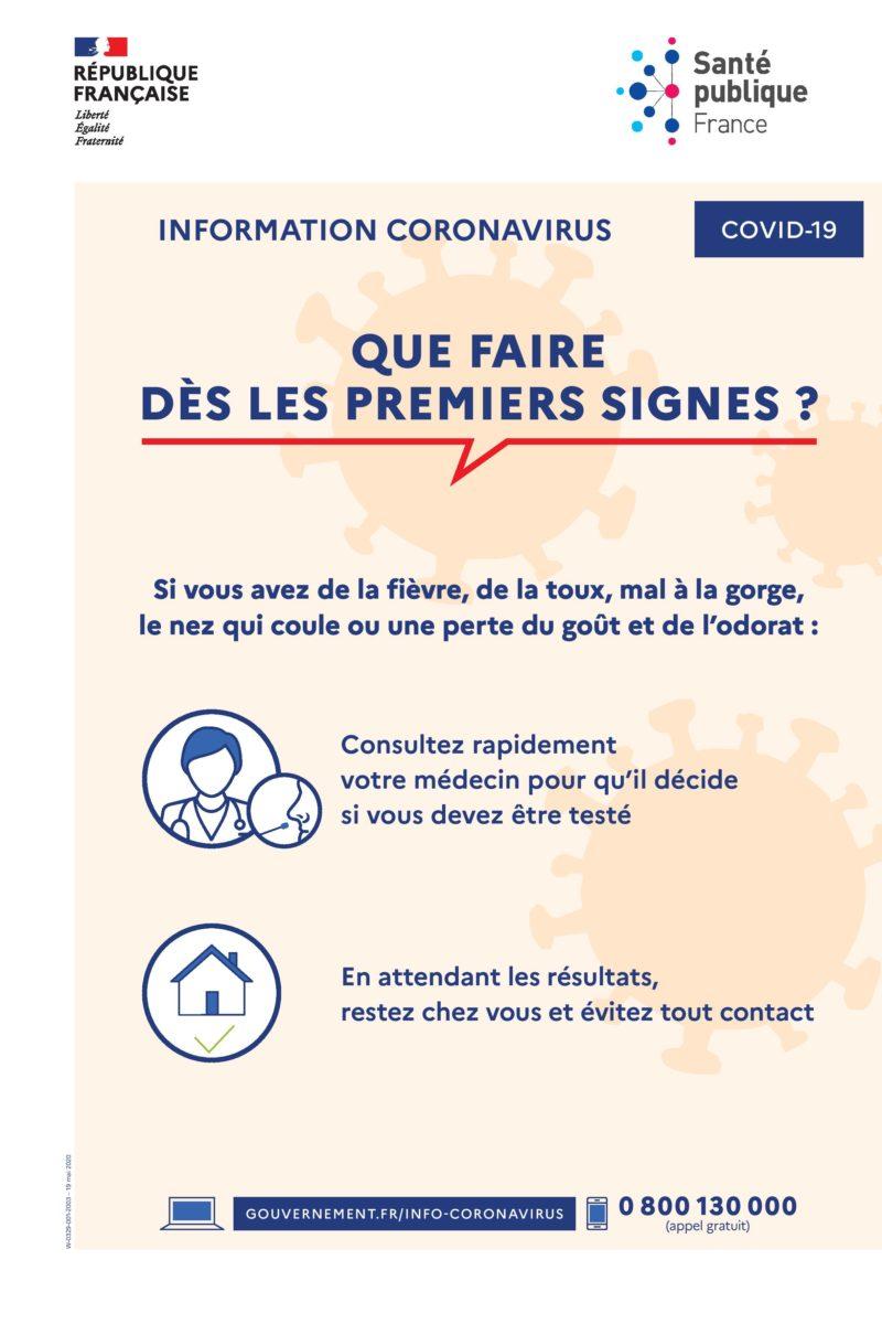 Sante Publique France Que Faire Premiers Signes Coronavirus