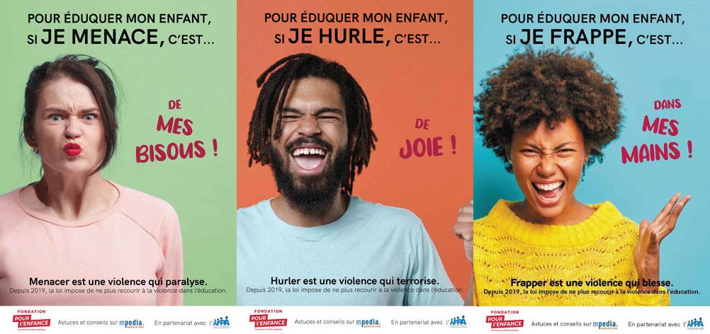 Campagne d'affichage pour sensibiliser aux violences éducatives ordinaires