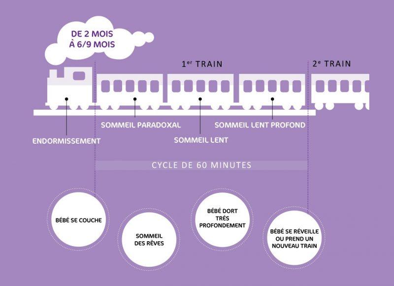 Petit train du sommeil de 2 mois à 6/9 mois - Infographie mpedia