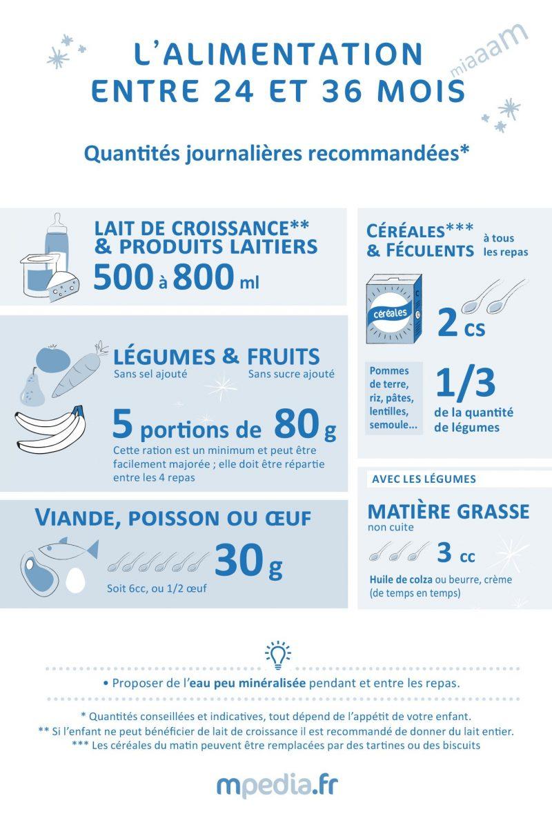L'alimentation entre 24 et 36 mois - Infographie mpedia